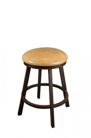 Wesley Allen's Raleigh Backless Swivel Stool with Round Seat Cushion