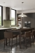 Amisco's Hanson Barstools Near Kitchen Island in Modern, Urban Kitchen