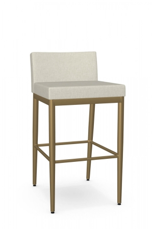 Amisco's Hanson Plus Gold Modern Bar Stool with Wide Seat