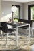 Amisco's Pablo Upholstered Double Seat Bar Stool Bench in Modern Dining Room