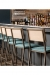 Grand Rapid's Brady Modern Narrow Bar Stools with Sled Base in Restaurant