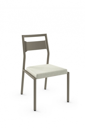 Amisco's Viggo Metal Dining Chair with Square Seat Cushion for Scandinavian Tables and Dining Rooms