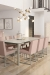 Amisco's Darlene Upholstered Dining Chairs in Pink in Modern Dining Room