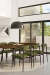 Amisco's Wilbur Scandinavian Green Dining Chairs in Modern Dining Room