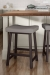 Amisco's Miller Saddle Backless Bar Stool with Sloped Seat, Four Legs and Metal Frame