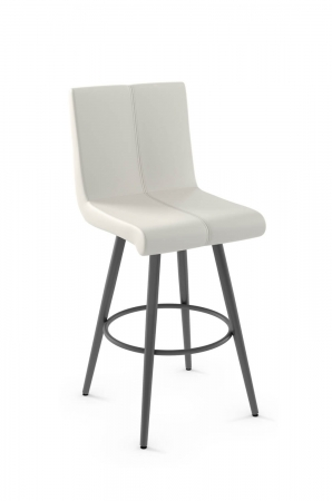 Amisco's Regent Upholstered Modern and Urban Swivel Metal Barstool