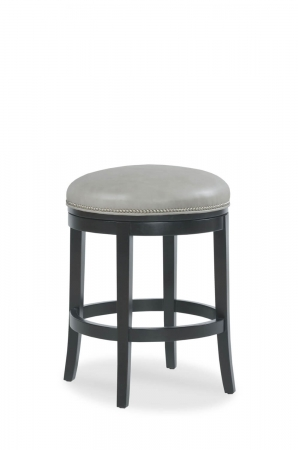 Fairfield's Gin Fizz Backless Swivel Round Barstool with Nailhead Trim
