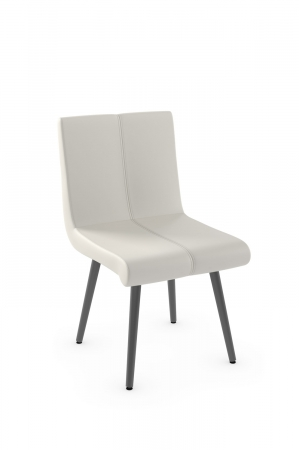 Amisco's Regent Urban Dining Chair Upholstered Back and Seat with Metal Base