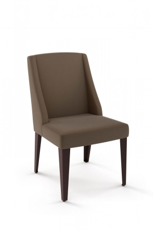Amisco's Bridget Upholstered Dining Chair with Wing Back and Metal Base