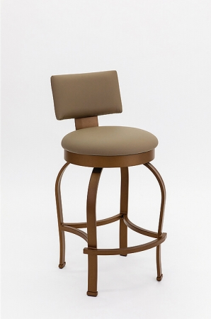 Wesley Allen's Eureka Swivel Barstool with Back in Brown Finish