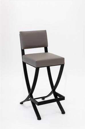 Wesley Allen's Woodbridge Upholstered Barstool with Back and Criss Cross Legs