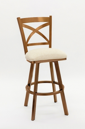 Wesley Allen's Edmonton Swivel Barstool in Copper Stainless Steel