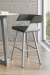 Amisco's Stacy Modern Swivel Barstool Upholstered Seat and Back - In Modern Urban Dining Space