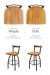 Comparison Between Medium Maple vs Medium Oak Wood Finish