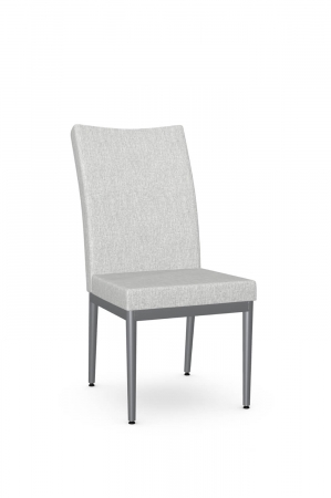 Amisco's Mitchell Modern Silver and Gray Dining Chair with Tall Back