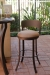 Callee's New Bailey Outdoor Swivel Bar Stool in Sun Bronze Metal Finish with Round Seat Cushion and Low Backrest