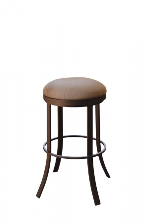 Callee's Bailey Outdoor Backless Swivel Bar Stool with Round Seat in Sun Bronze Metal Finish