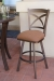 Callee's Edison Swivel Barstool with Back in Bronze Metal Finish, Outside Patio