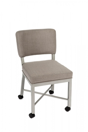 Wesley Allen's Miami Modern Upholstered Dining Chair with Casters