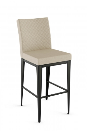 Amisco's Pablo Modern Upholstered Bar Stool Quilted Back in Cream