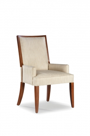 Fairfield Chair's Harvey Upholstered Arm Chair with Wooden Frame