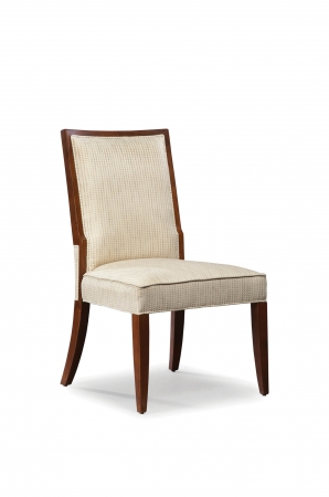 Fairfield Chair's Harvey Armless Upholstered Dining Chair in Walnut Finish