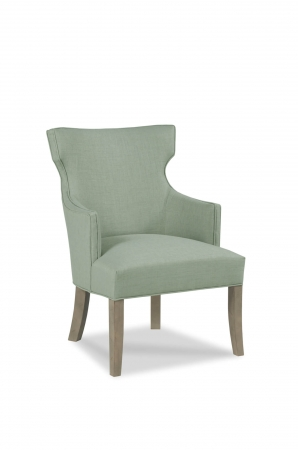 Fairfield's Lockhart Wooden Dining Occasional Chair Upholstered with Tall Back and Arms