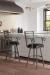 Callee's Rebecca Transitional Swivel Bar Stool in Elegant White Brown Kitchen