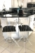 Muniz Tiffany Lucite Acrylic Swivel Stools in Modern Kitchen