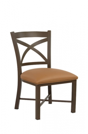 Wesley Allen's Edmonton Stationary Brown Dining Chair