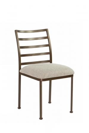 Wesley Allen's Benton Modern Metal Brown Dining Chair with Seat Cushion