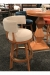 Darafeev's Ace Maple Upholstered Swivel Bar Stool with Low Back