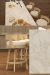 Darafeev's Gen Luxury Low Back Swivel Wood Counter Stools in Modern Kitchen