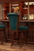 Darafeev's Classic Maple Luxury Bar Stool in Cherry Wood, Teal Seat/Back Cushion - in Home Bar