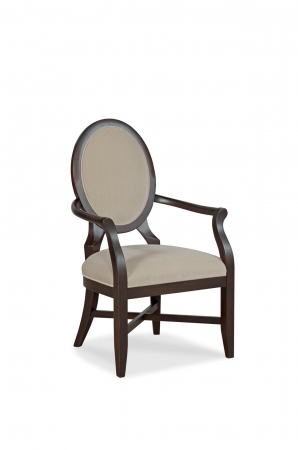 Fairfield's Marlin Wooden Arm Chair Upholstered with Oval Back