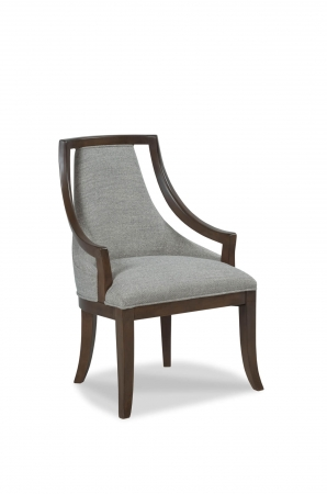 Fairfield's Caldwell Upholstered Wood Dining Chair with Partial Arms