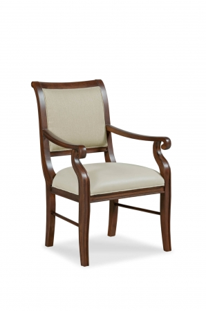 Fairfield's Emmett Upholstered Wood Dining Chair with Arms