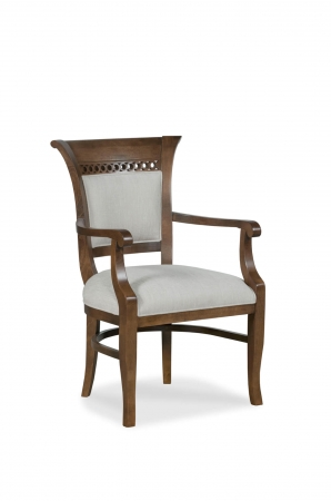 Fairfield's Bonham Upholstered Wood Dining Arm Chair
