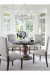 Fairfield's Josephine Traditional Upholstered Wooden Dining Chairs in Large Modern Dining Room