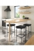 Amisco's Atlas Backless Black Swivel Bar Stools in Modern Kitchen