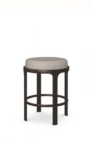 Amisco's Whitaker Backless Stationary Barstool in Brown