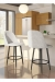 Amisco's Zahra Modern Swivel Bar Stool with Back in Ultra Modern Kitchen