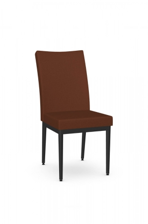Amisco's Marlon Black and Red Modern Dining Chair with Tall Back