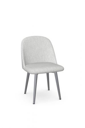 Amisco's Zahra Modern Upholstered Gray Dining Chair