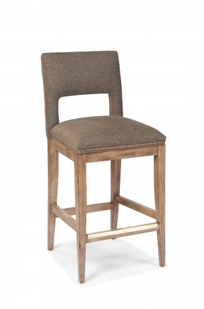 Fairfield's Orleans Wooden Stool with Back