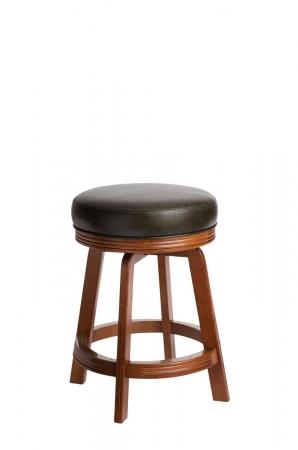 Darafeev's 938 Wood Maple Backless Swivel Bar Stool