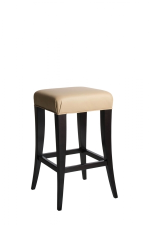 Darafeev's Treviso Backless Stationary Wood Modern Bar Stool in Black