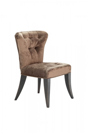 Darafeev's Bourbon Flexback Brown Club Chair with Button-Tufting on Back