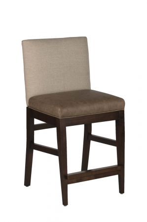 Darafeev's Roncy Wood Upholstered Modern Bar Stool - Multi Fabrics