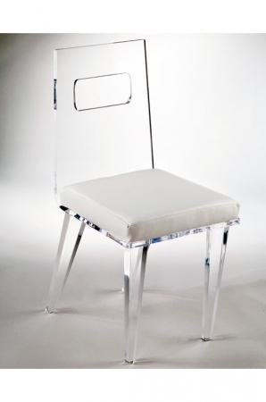 Muniz' Ashley Acrylic Modern Dining Chair with Seat Cushion